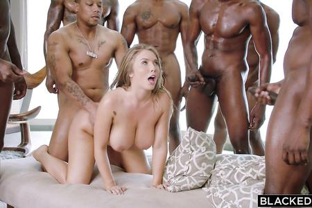 Babe Gangbanged By Black Dicks