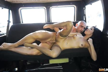 Chick With Stockings Fucked In The Van