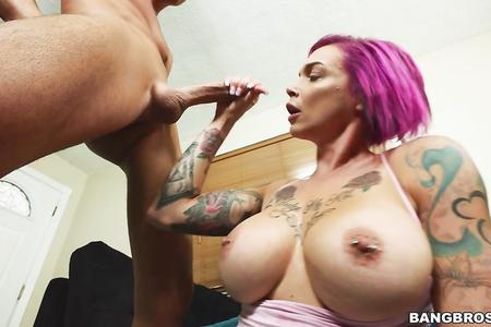 Anna Bell Peaks Teases Guy Before Fucking