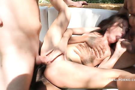 Lola Bulgari ass smashed & DAP'ed (interracial double anal) RS223