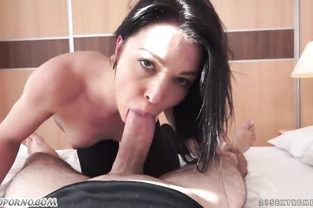 Hardcore ass fuck with brunette French erasmus girl